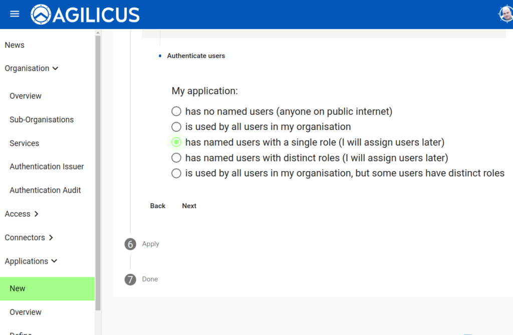 New Application: Users