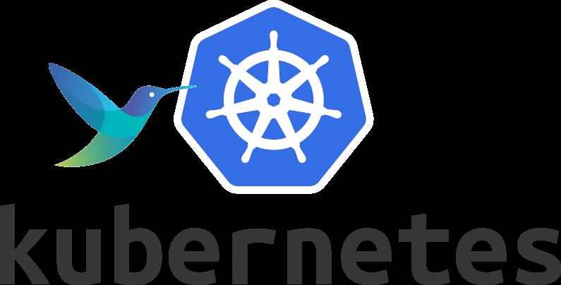 Fluent-bit logo with Kubernetes logo