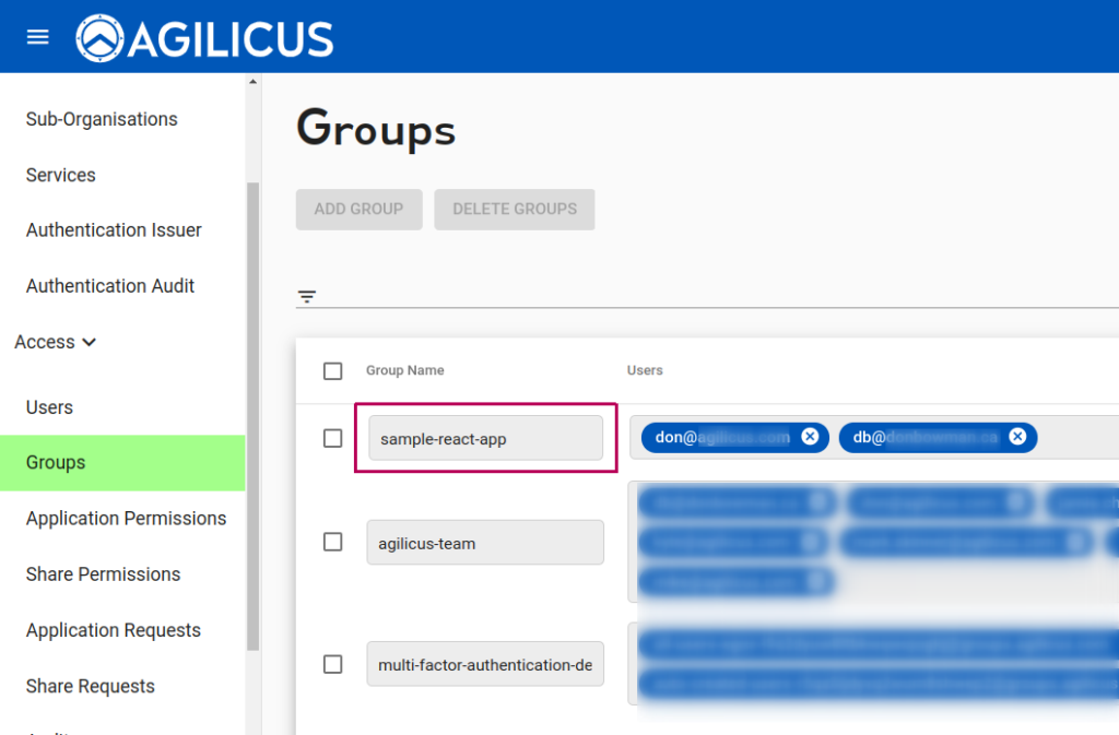 New Application: Groups